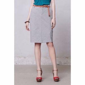 Anthropologie Pilcro Striped Denim Skirt